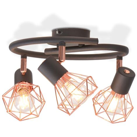Ceiling Lamp with 3 LED Filament Bulbs 12 W - Multicolour