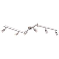 Ceiling Lamp with 6 LED Spotlights Satin Nickel