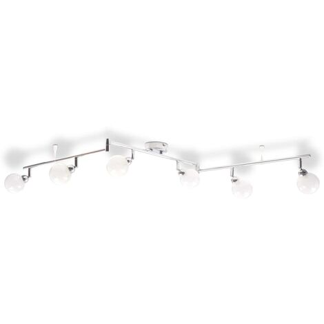Ceiling Lamp with 6 Shades G9 Chrome
