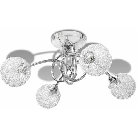 Ceiling Lamp with Mesh Wire Shades for 4 G9 Bulbs QAH08474