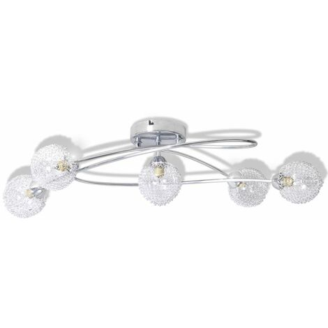 Ceiling Lamp with Mesh Wire Shades for 5 G9 Bulbs QAH08755