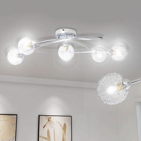 Ceiling Lamp with Mesh Wire Shades for 5 G9 Bulbs VDTD08755