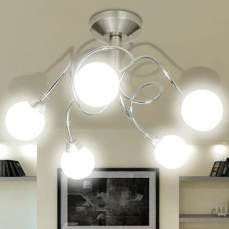 Ceiling Lamp with Round Glass Shades for 5 G9 Bulbs VD08481