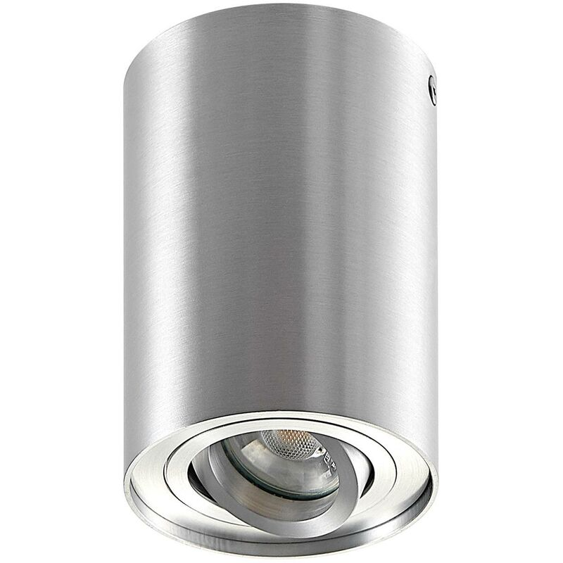 Image of Ceiling Light 'Aleena' dimmable (modern) in Silver made of Aluminium (1 light source, GU10, A++) from ELC | ceiling lamp, lamp