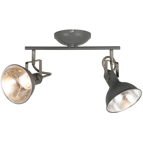 Ceiling light anthracite 2-light swivel and tilt - Tommy 2