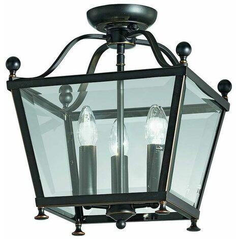 Ceiling light antique brass Atrio 3 Bulbs