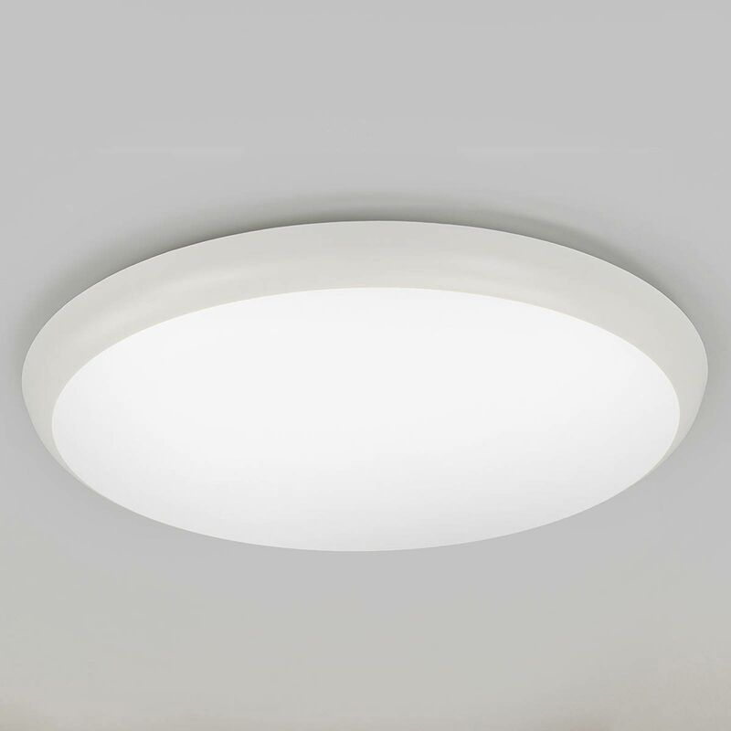Image of Arcchio - LED Ceiling Light 'Augustin' (modern) in White for e.g. Bathroom (1 light source, A+) from ceiling lamp, lamp