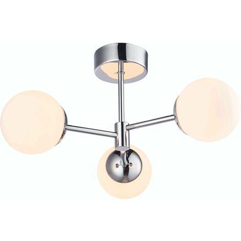 Ceiling light Bathroom ceiling light Vetro Steel
