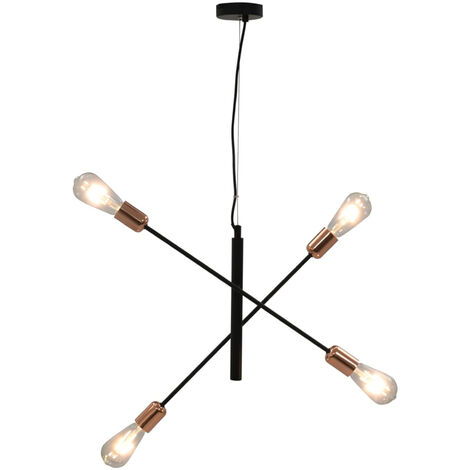 """main image of """"Ceiling Light Black and Copper E27"""""""