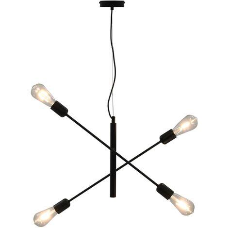 Ceiling Light Black E27