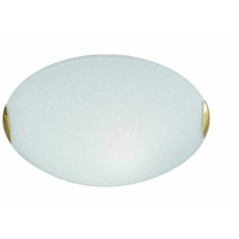 Ceiling light brass 2 Bulbs