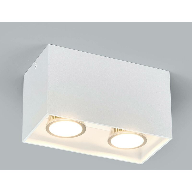 Image of 2-bulb surface-mounted downlight Carson in white - ARCCHIO