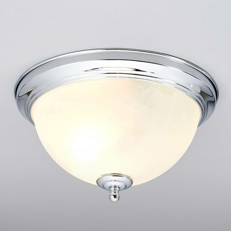 """main image of """"Ceiling Light 'Corvin' dimmable (modern) in Silver made of Metal for e.g. Bathroom (1 light source, E27) from Lindby 