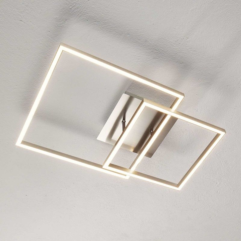 Ceiling Light Delian Modern In Silver Made Of Metal For E G