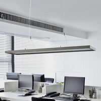 "Ceiling Light ""Divia"" dimmable (modern) in Silver made of Metal for e.g. Office & Workroom (2 light sources, A+) from Lampenwelt"