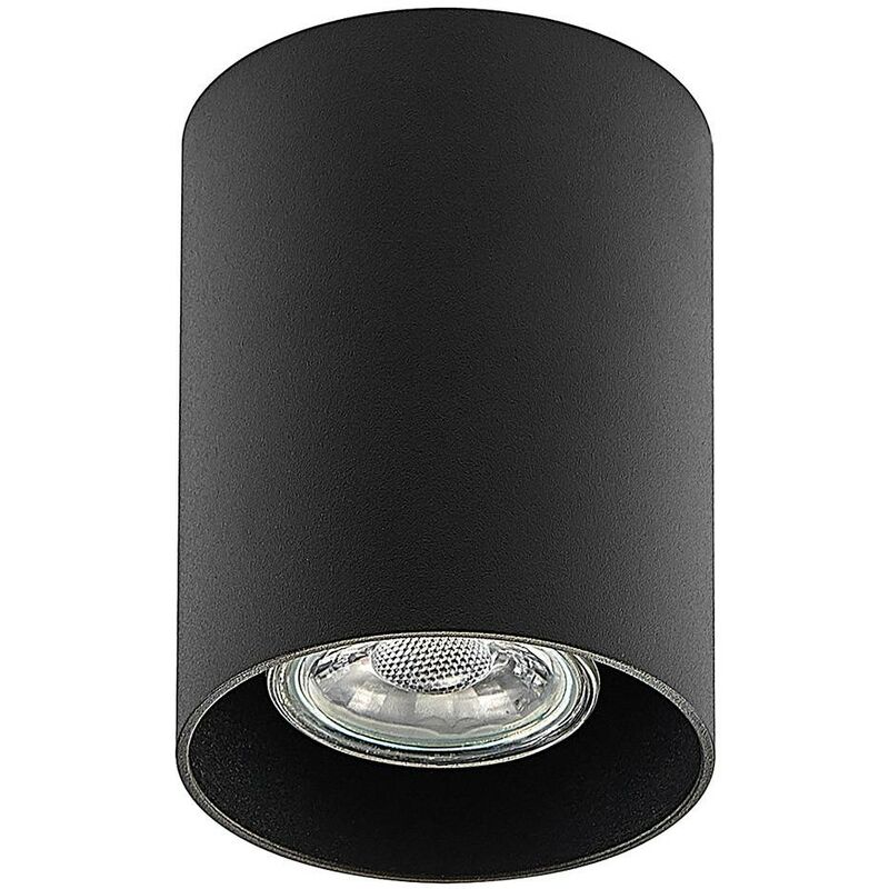 Image of Ceiling Light 'Efey' dimmable (modern) in Black made of Aluminium (1 light source, GU10, A++) from ELC | ceiling lamp, lamp