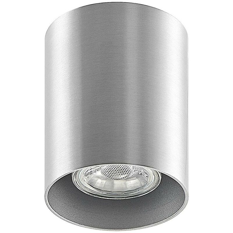 Image of Ceiling Light 'Efey' dimmable (modern) in Silver made of Aluminium (1 light source, GU10, A++) from ELC | ceiling lamp, lamp
