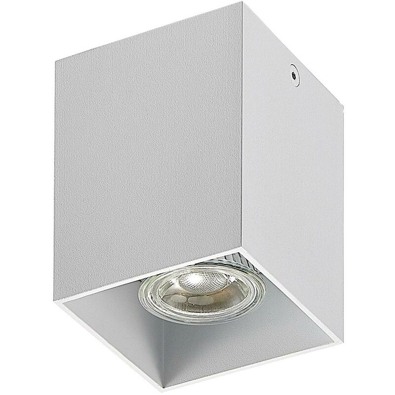 Image of Ceiling Light 'Efey' dimmable (modern) in White made of Aluminium (1 light source, GU10, A++) from ELC | ceiling lamp, lamp