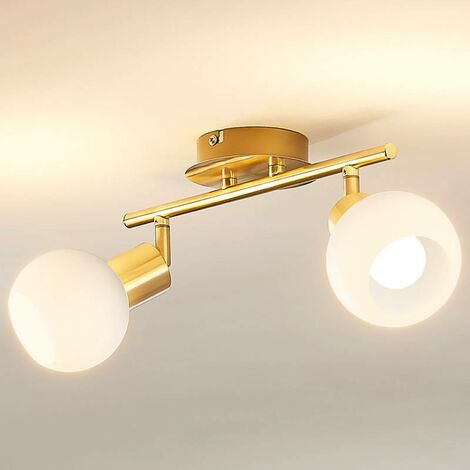 Ceiling light Elaina, E14 LED light bulbs,brass