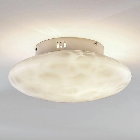 Ceiling light Elida, alabaster glass, 33 cm