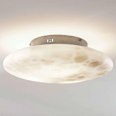 Ceiling light Elida, alabaster glass, 42 cm