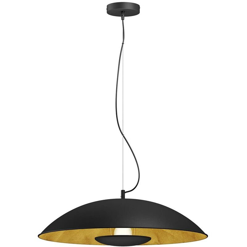 Image of Ceiling Light 'Emilienne' dimmable (modern) in Black made of Metal (1 light source, E27, A++) from Lindby   pendant lighting, lamp, hanging lamp,