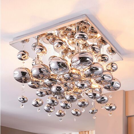 Ceiling light Esfera hung with glass balls
