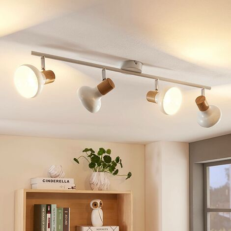 """main image of """"Ceiling Light 'Fridolin' dimmable (modern) in White made of Metal for e.g. Kitchen (4 light sources, E14) from Lindby   floodlight, spotlight"""""""