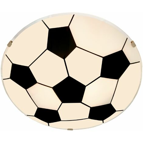 Ceiling Light 'Fußball' dimmable (modern) in White made of Glass for e.g. Children's Room (1 light source, E27, A++) from Lindby | ceiling lamp, lamp