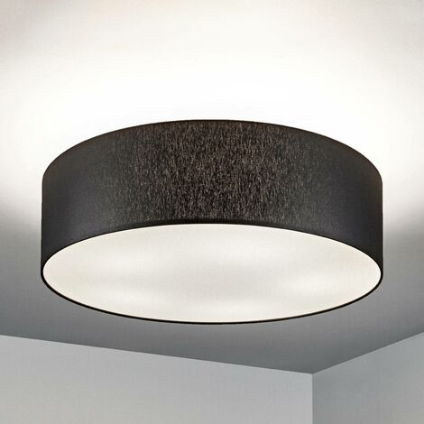 Ceiling Light 'Gala' dimmable (modern) in Black made of Textile (5 light sources, E27, A++) from Lucande | ceiling lamp, lamp
