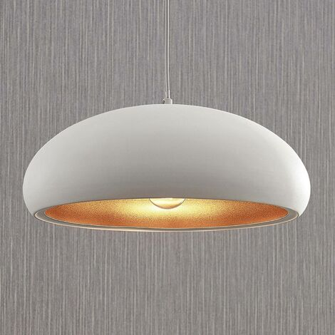 """main image of """"Ceiling Light 'Gerwina' dimmable (modern) in White made of Metal (1 light source, E27) from Lindby 