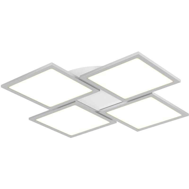 Image of LED Ceiling Light 'Ilira' dimmable (modern) in Silver for e.g. Kitchen (1 light source, A+) from Lucande | ceiling lamp, lamp