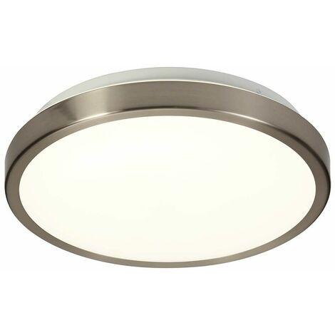 Ceiling light IP44 Gela 1 Bulb Satin Nickel 20 Cm