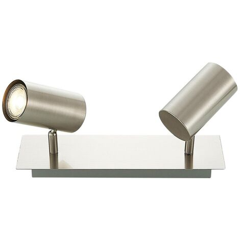 Ceiling Light 'Joffrey' dimmable (modern) in Silver made of Metal (2 light sources, GU10, A++) from Lindby | floodlight, spotlight