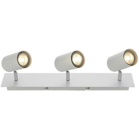 Ceiling Light 'Joffrey' dimmable (modern) in White made of Metal (3 light sources, GU10, A++) from Lindby | floodlight, spotlight
