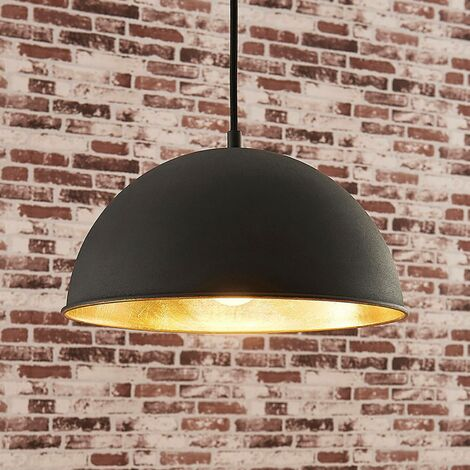Ceiling Light 'Leya' dimmable (modern) in Black made of Metal (1 light source, E27, A++) from Lindby | pendant lighting, lamp, hanging lamp, lamp, ceiling lamp, hanging light
