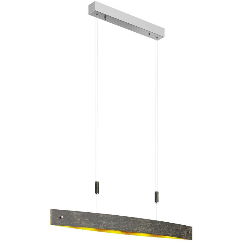 Image of LED Ceiling Light 'Lio' (incl. touch dimmer) dimmable (modern) in Black made of Metal (5 light sources, A+) from Lucande | pendant lighting, lamp,