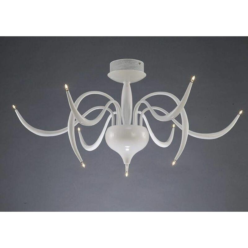 Image of 09-diyas - Ceiling light Llamas 9 Bulbs white