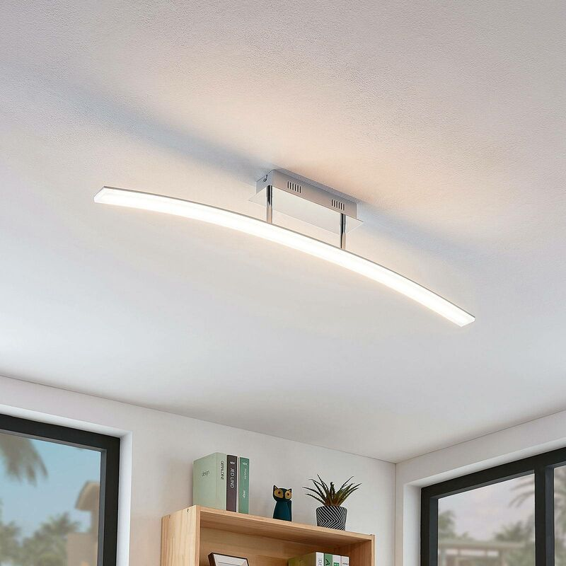 Image of LED Ceiling Light 'Lorian' (modern) in White (216 light sources, A+) from Lucande | ceiling lamp, lamp