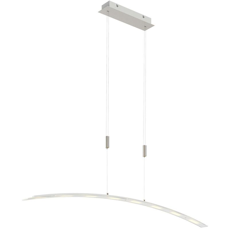 Image of LED Ceiling Light 'Manon' dimmable (modern) in Silver made of Glass (8 light sources, A+) from Lindby   pendant lighting, lamp, hanging lamp, lamp,