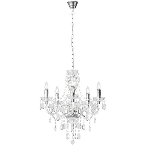 Ceiling Light 'Merida' dimmable in Clear (5 light sources, E14, A++) from Lindby   chandeliers, lighting, Lamp, pendant light, hanging lamp, lamp, ceiling lamp
