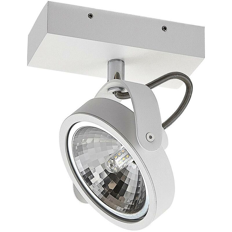 Image of Ceiling Light 'Mitella' dimmable (modern) in White made of Aluminium (1 light source, G9, A++) from ELC | ceiling lamp, lamp