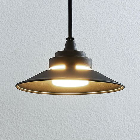Ceiling Light Outdoor 'Cassia' (modern) in Black made of Aluminium (1 light source, A+) from Lindby | pendant Lighting, outdoor light
