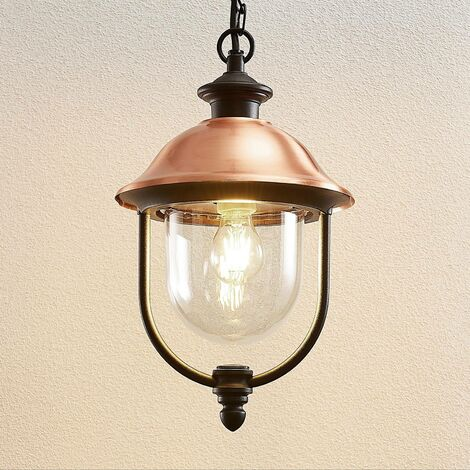 Ceiling Light Outdoor 'Clint' dimmable (vintage, antique) in Copper made of Aluminium (1 light source, E27, A++) from Lindby | pendant Lighting, outdoor light