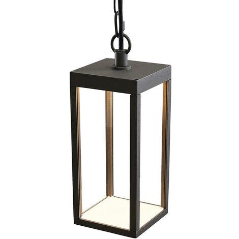 Ceiling Light Outdoor 'Cube' (modern) in Black made of Aluminium (1 light source, A+) from Lucande | pendant Lighting, outdoor light