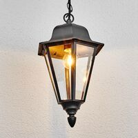 "Ceiling Light Outdoor ""Edana"" in Black made of Aluminium (1 light source, E27, A++) from Lampenwelt"