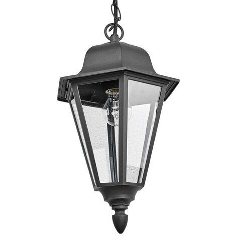 Ceiling Light Outdoor 'Edana' in Black made of Aluminium (1 light source, E27, A++) from Lindby | pendant Lighting, outdoor light
