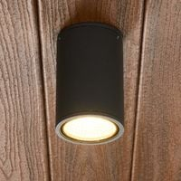 "Ceiling Light Outdoor ""Hana"" (modern) in Black made of Aluminium (1 light source, A+) from Lampenwelt"