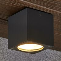 "Ceiling Light Outdoor ""Meret"" (modern) in Black made of Aluminium (6 light sources, A+) from Lampenwelt"