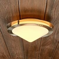 """Ceiling Light Outdoor """"Reneas"""" (modern) in Silver made of Glass (1 light source, E27, A++) from Lampenwelt"""